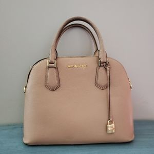Michael Kors Adele Large Dome Leather Satchel